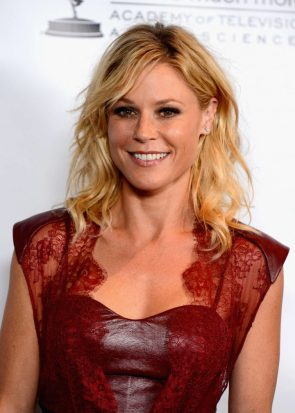 julie bowen in red leather