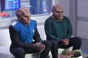 Peter Macon and Chad Coleman in The Orville