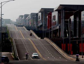 Wavy road in Chongqing China
