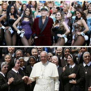 Hef vs the Pope
