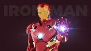 Iron Man has a shiney hand