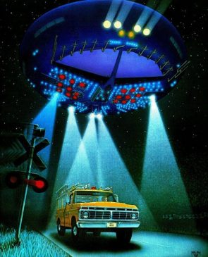 Close Encounters of the Third Kind illustration by Ralph Fowler 1978