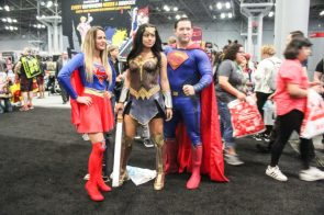 Supergirl Wonder Woman and Superman Cosplay from New York Comic Con 2017