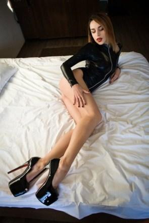 Black Latex and Heels