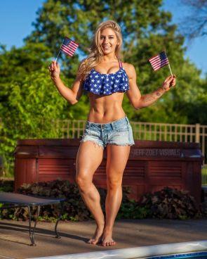 Alyssa Loughran has flags.jpg