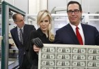 Treasury Secretary Steven Mnuchin and his wife Louise Linton