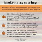 It's ok to say no to hugs