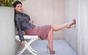 Gina in heels