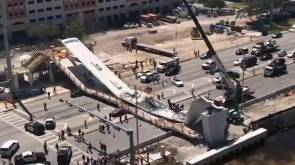 FIU pedestrian bridge collapses days after installation; police say multiple deaths, cars trapped