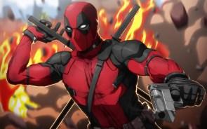 Deadpool in Flames