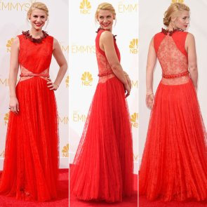 claire danes in red