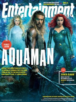 Aquaman His Mother And His Lover on an Entertainment Weekly Cover