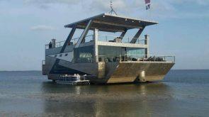 massive pontoon boat