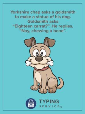 chewing a bone