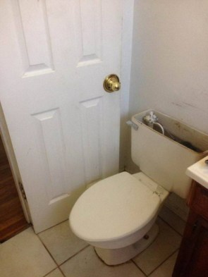 new toilet has been installed