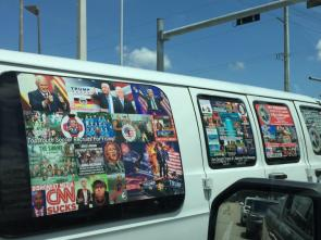 The bomber's van