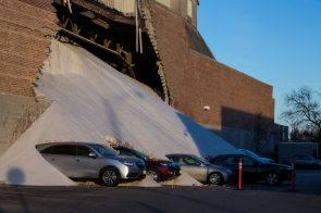Wall collapses at Morton Salt building in Chicago