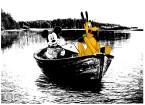 Dropping off Goofy at the lake