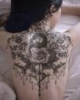 snake back tattoo