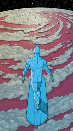 silver surfer over clouds
