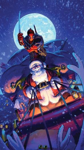 Deadpool trying to kill Santa.jpg
