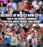 Because of Trump it's 2019