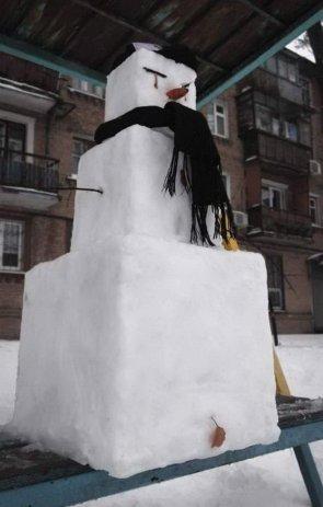 square snow man