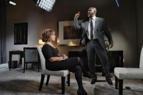 R Kelly during his recent CBS interview
