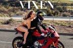 Mia Meleno on a bike for VIXEN