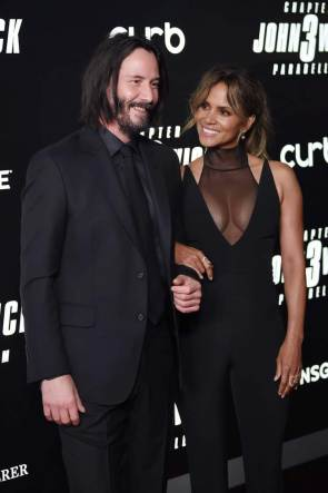 Keanu Reeves and Halle Berry hit the red carpet at the premiere of John Wick Chapter 3