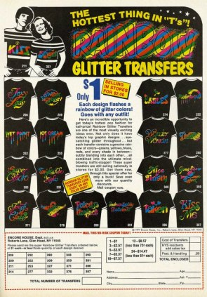GLITTER TRANSFERS