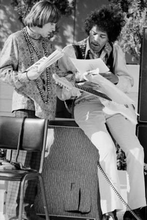 PETER TORK AND JIMI HENDRIX – 1967