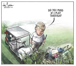 Canadian Political Cartoonist Michael de Adder Let Go for Submitting A Too On-The-Nose Cartoon
