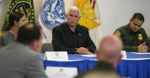 "Mike Pence visits a crowded immigrant detention center ""This is tough stuff"""