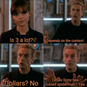 Is 3 a Lot for Sony yeah