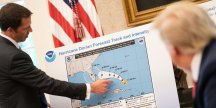 White House photo shows Trump being briefed with accurate Hurricane Dorian map before it was altered to include Alabama