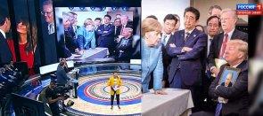 Russian TV news recapping G7