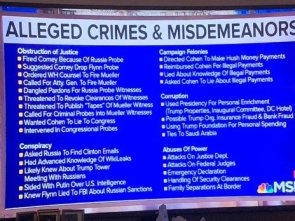 Alleged Crimes & Misdemeanors