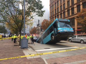Today in Pittsburgh Sinkhole eats bus