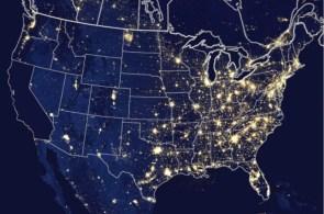 NASA's photo of the USA at night