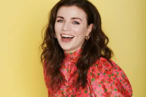 Aisling Bea's open mouth