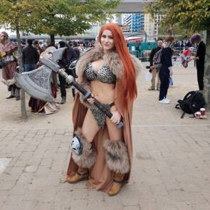 sexy red head cosplay