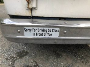sorry for driving