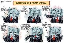 EVOLUTION OF A tRUMP SCANDAL