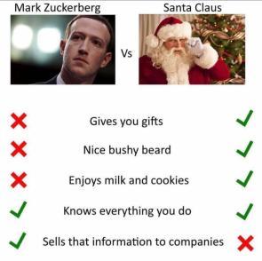 mark zuckerberg vs Santa Claus