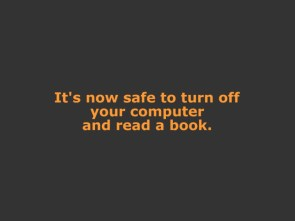 safe to turn off your computer