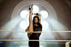 Sofia Boutella is about to kick box