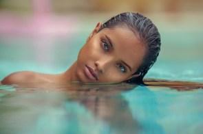 head tilt in the pool