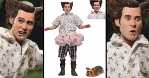NECA Unveils Ace Ventura Shady Acres Action Figure with Wiggles the Dog