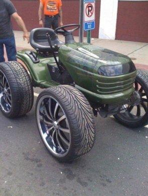 high rise lawn mower